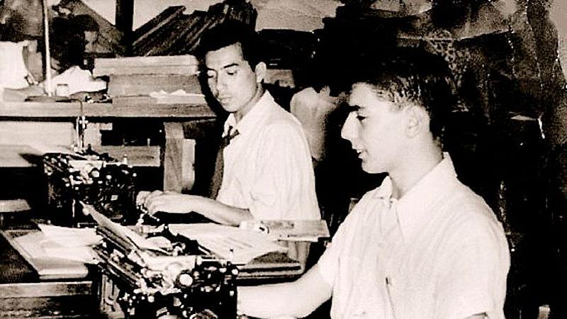 Mario Vargas Llosa en sus inicios de joven