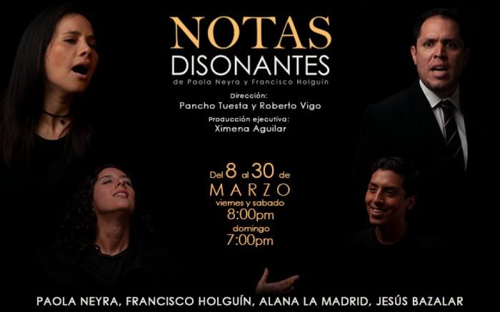 Notas Disonantes propone un formato dinámico de teatro lírico muy interesante e innovador - ArtesUnidas.com