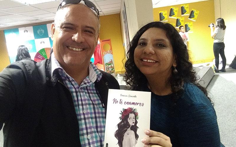 Sergio Gonzalez Director de Artes Unidas junto a Vanessa Deacosta - ArtesUnidas.com