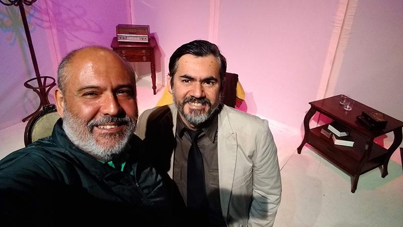 Junto a Carlos García Rosell Actor y Director que encarna a Saint Ex - ArtesUnidas.com