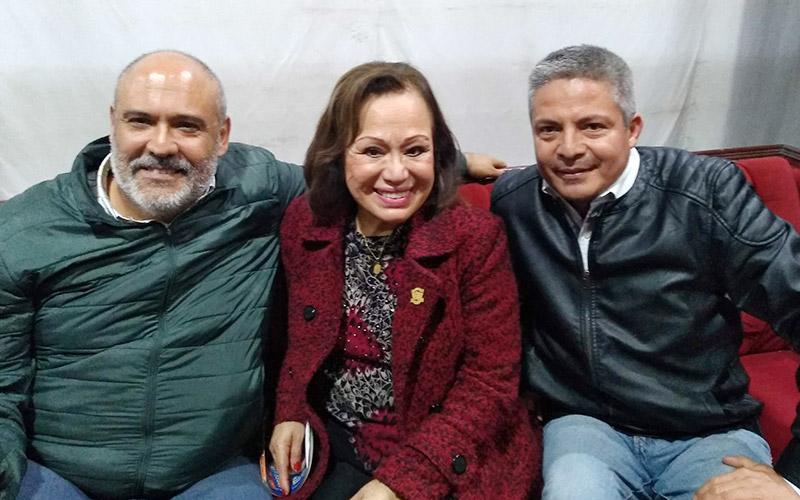 Junto a Haydee Caceres Sergio Gonzalez y Franklin Duarte - ArtesUnidas.com