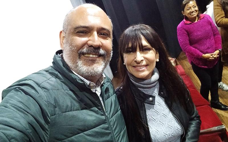 Silvia Bardales con Sergio González tras Señoritas a Disgusto - ArtesUnidas.com