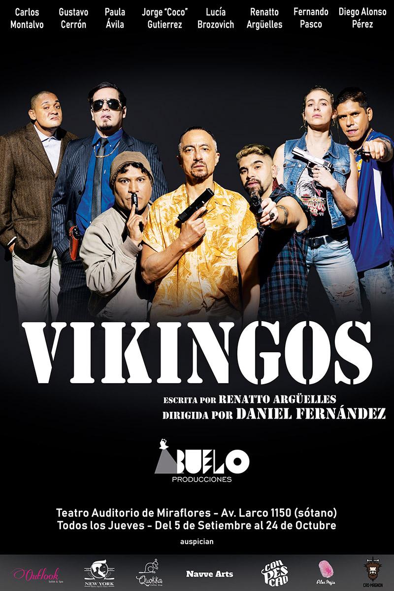 Flyer de Vikingos - Abuelo Producciones