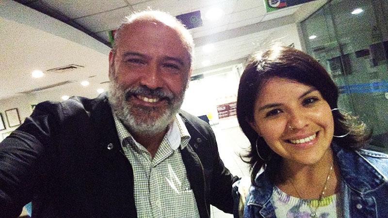 Junto a Paola Chacaltana del Área de Producción - ArtesUnidas.com
