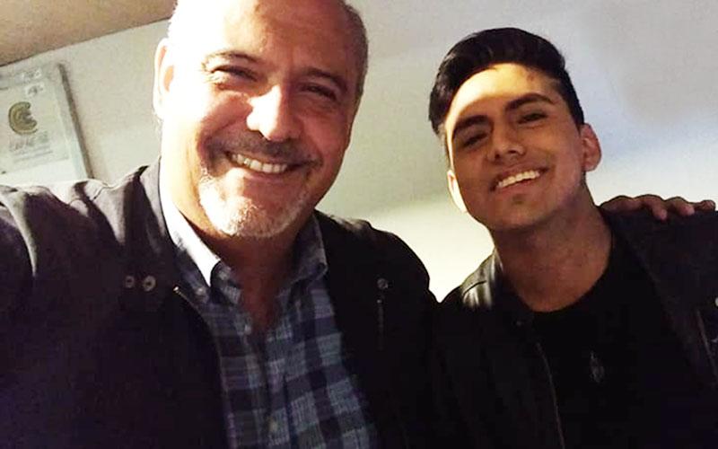 Luis Álvaro Félix junto a Sergio González en Agua el Musical - ArtesUnidas.com