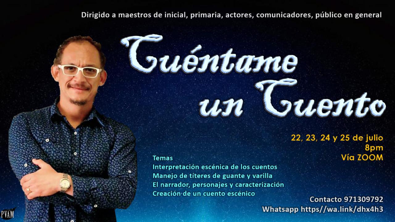 Cuéntame un cuento un taller genial del maestro Percy Chumbe - ArtesUnidas.com