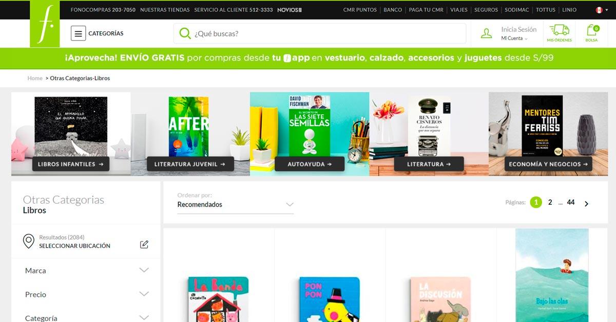 Catálogo de Libros Fallabella - ArtesUnidas.com