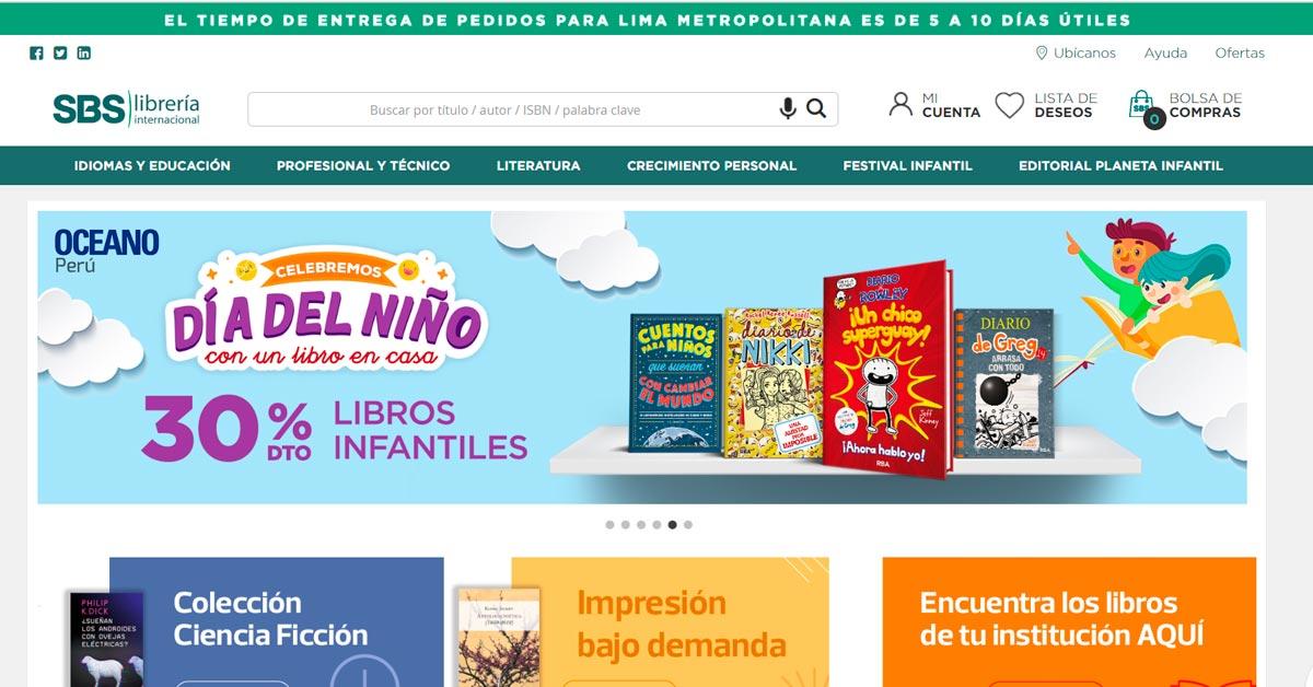 Catálogo de libros online SBS Libreria Internacional - ArtesUnidas.com